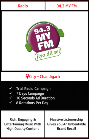 94.3 MY FM trial radio ad campaign for 7 Days