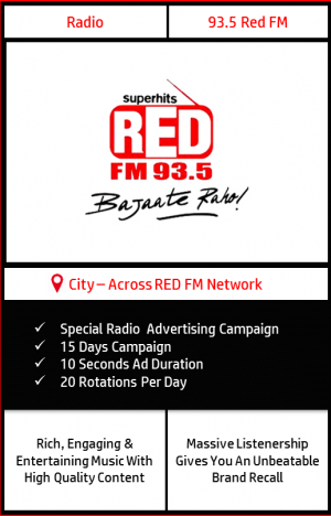FM radio advertisement on 93.5 Red FM