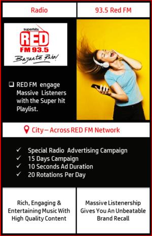 FM Radio advertising on 93.5 Red FM