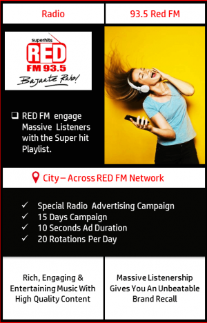 FM Radio advertising on 93.5 Red FM