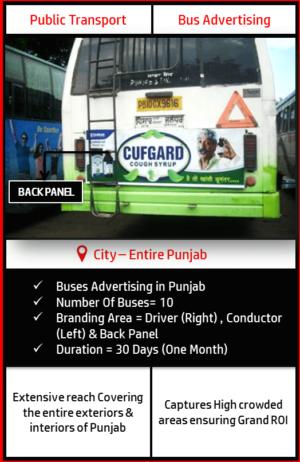 Punjab Roadways Buses Advertisement-Back Panel