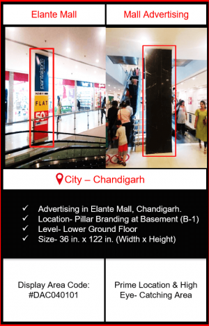 Elante Mall Advertising | Advertising in Elante Mall Chandigarh | Mall Advertising | Advertising in Chandigarh