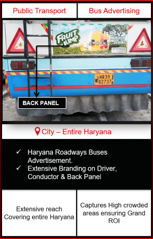 Haryana Roadways Buses Advertising | Roadways Buses Advertising in Haryana | Haryana Buses Advertising | Print Advertising | Outdoor Advertising in Haryana