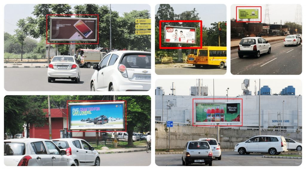 Unipole Hoarding Advertisement in Mohali