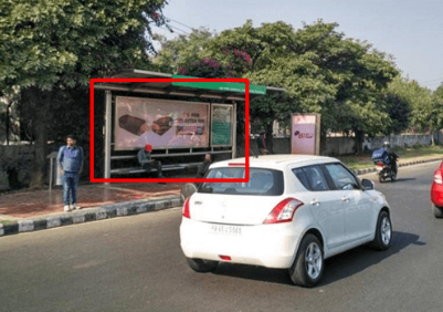 Bus Queue Shelter Advertising at PCL Lights in Mohali, Punjab - Total Area 120 Sq. Ft.