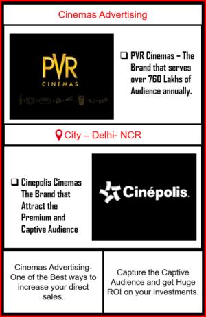 Cinemas Advertising, Cinemas Advertising in Delhi-NCR, Outdoor Advertising in Delhi, Cinema Advertising, Cinemas Advertising Agency in Delhi