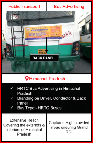 Himachal Pradesh Roadways Buses Advertising, Roadways Buses Advertising in Himachal Pradesh, HRTC Bus Advertising, Himachal Pradesh Buses Advertising, Outdoor Advertising in Himachal Pradesh, Public Transport Advertising, Roadways Buses Advertising