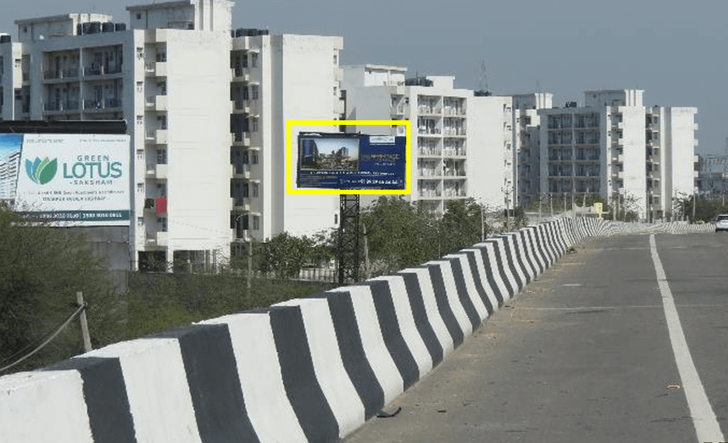 Unipole advertising at Banur Flyover, Banur-Zirakpur Highway, Banur