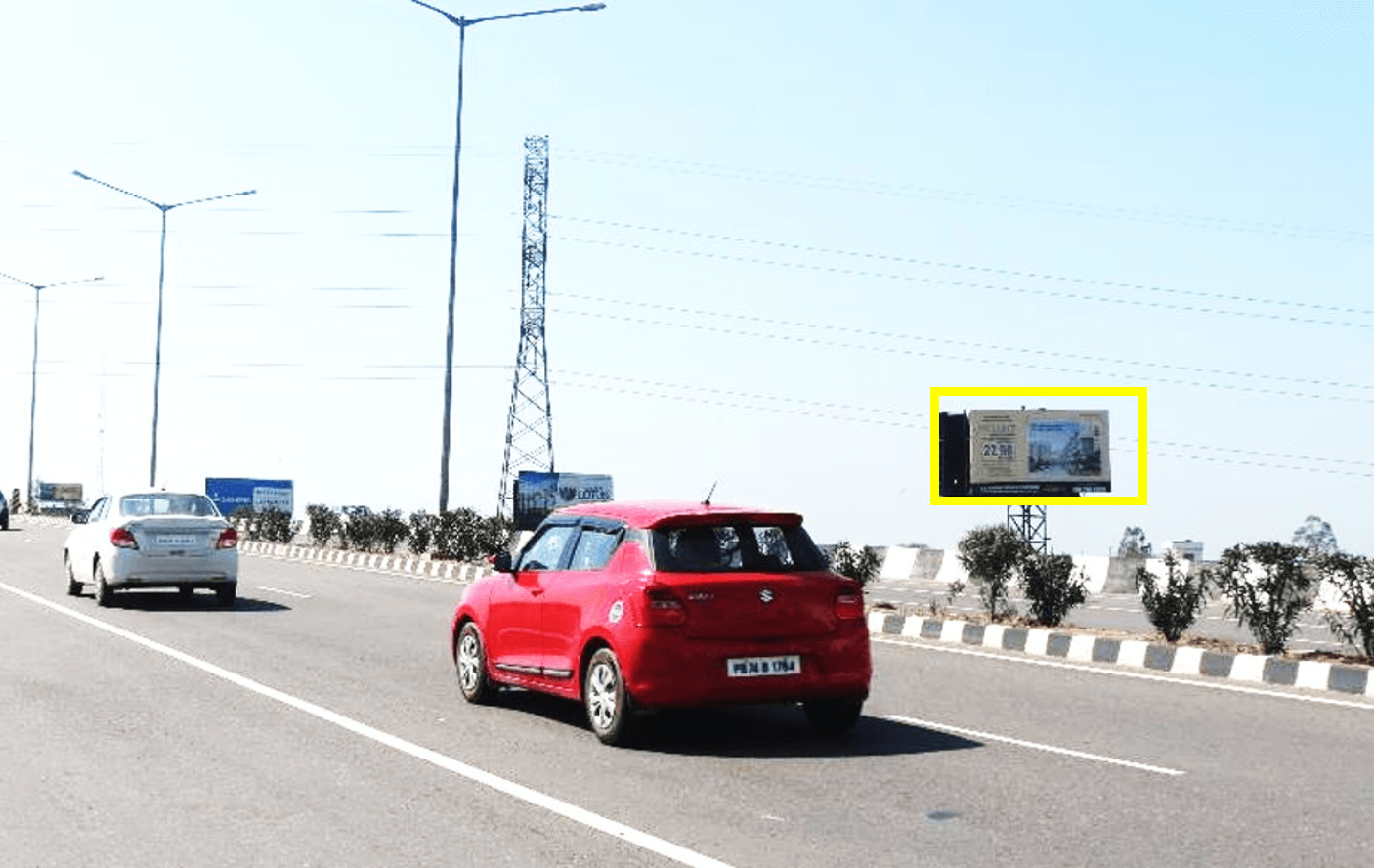 Unipole advertising at Banur Flyover Chandigarh To Patiala Highway, Banur