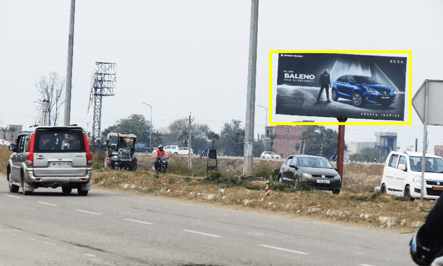 Unipole advertising at PR7 Airport Road, Zirakpur