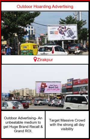 Outdoor Advertising in Zirakpur, Outdoor Advertising in Punjab, Hoardings advertising agency in zirakpur, outdoor advertising agency in Punjab, Hoarding ads in Zirakpur