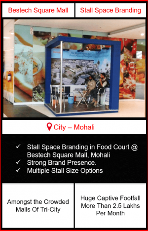 Advertising in Mall, Mall Advertising, indoor advertising in mohali, mall advertising in punjab, outdoor advertising in mohali, mall advertising in chandigarh, advertising in malls in punjab, bestech sqaure mall advertising