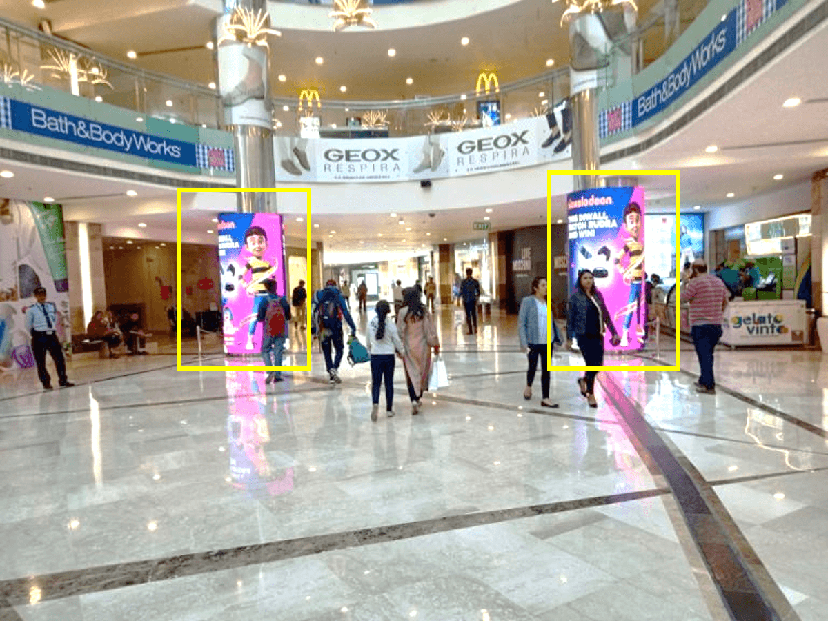 4 LED Screens at Mango Atrium, Ambience Mall, NH-8, Gurgaon