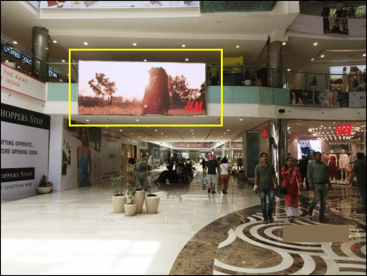 Big LED Screen Advertising at Collective Atrium, Ambience Mall - Vasant Kunj, New Delhi