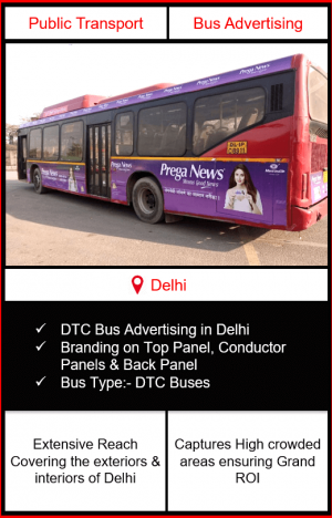 DTC Bus Advertising, Advertising on DTC Buses, Delhi Roadways Buses Advertisement, Bus Advertising in Delhi, Delhi Transport Corporation Buses Advertising