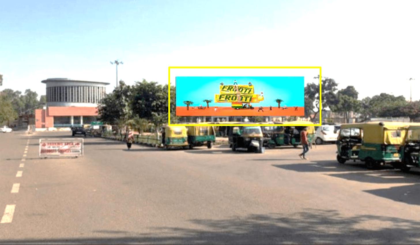Option No.3 Unipole advertising at Railway Station, Parking Turn, Chandigarh