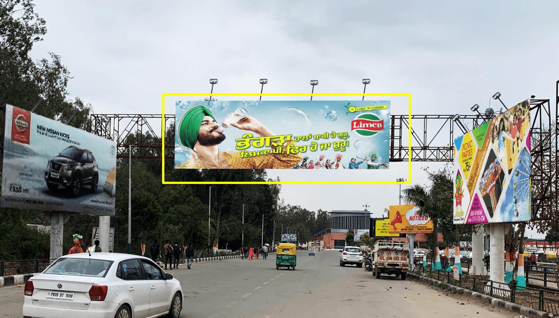 Gantry advertising at Railway Station, Main Entry Road, Chandigarh