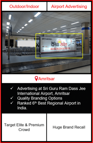 airport advertising in amritsar, airport branding in amritsar, airport branding in punjab, airport advertising, outdoor advertising in amritsar