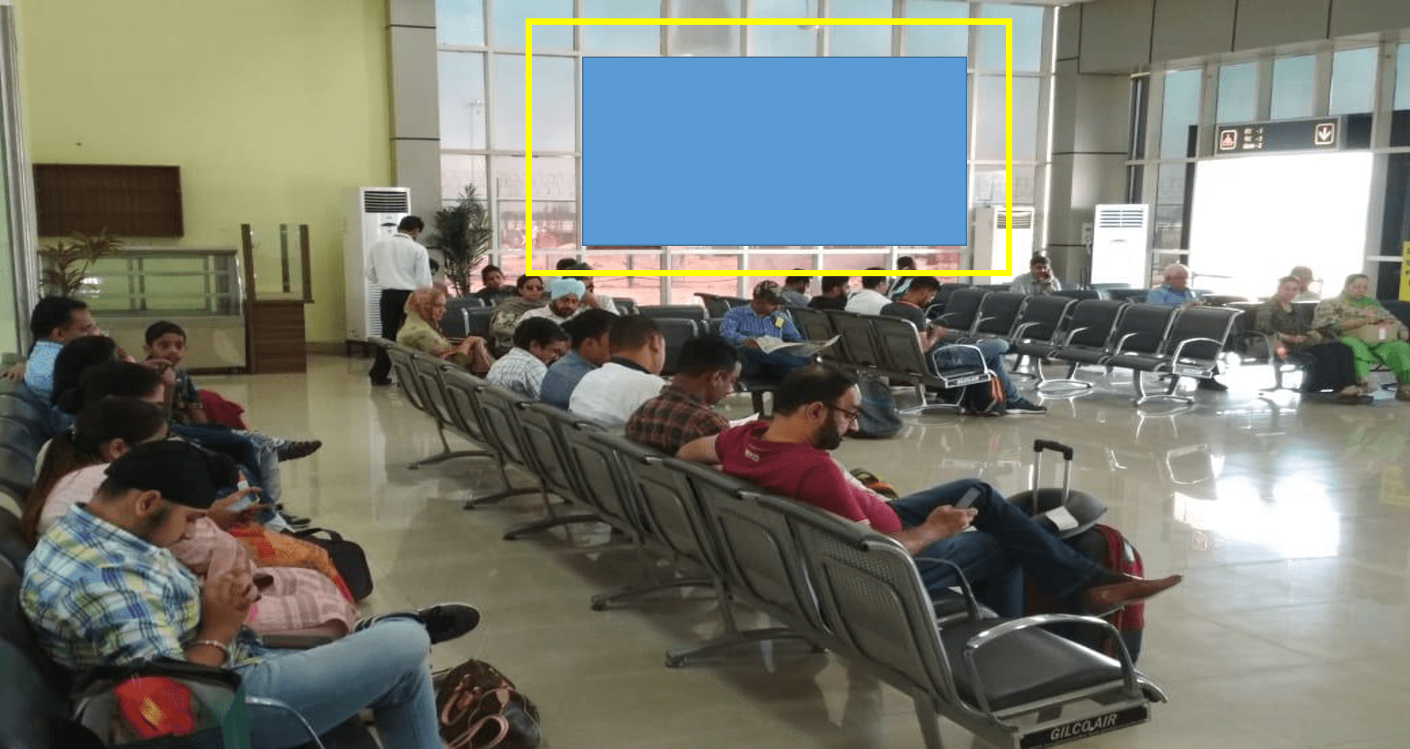 Option No.2 Branding at Airport, Security Hold Area, Bathinda