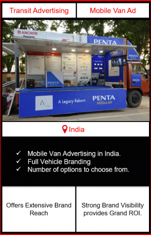 mobile van advertising, mobile van advertising in India, outdoor advertising, transit advertising