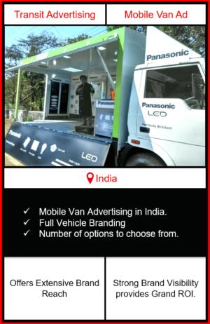 mobile van advertising, mobile van advertising in India, outdoor advertising, transit advertising