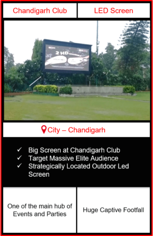 led screen advertising in chandigarh, outdoor advertising in chandigarh, advertising in chandigarh club, outdoor led screen advertising in chandigarh club, Digital LED Screen Outdoor Advertising in India
