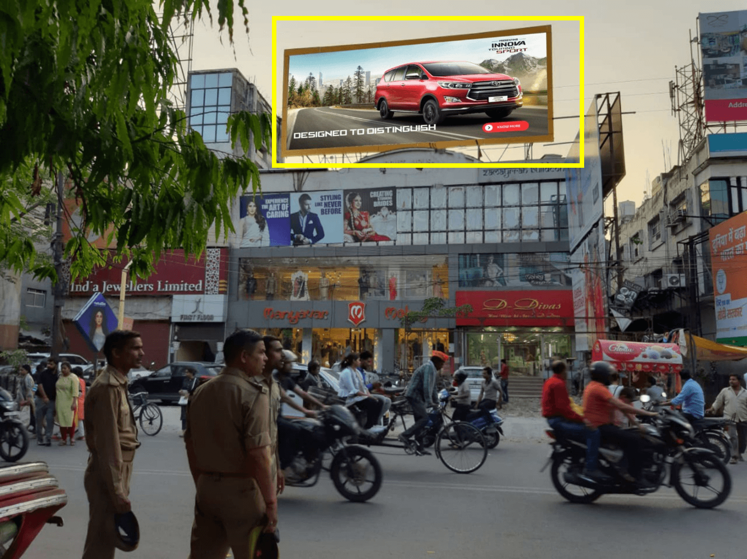 Option No.1 Hoarding at Sahara Mall, Main Exit Point, Lucknow