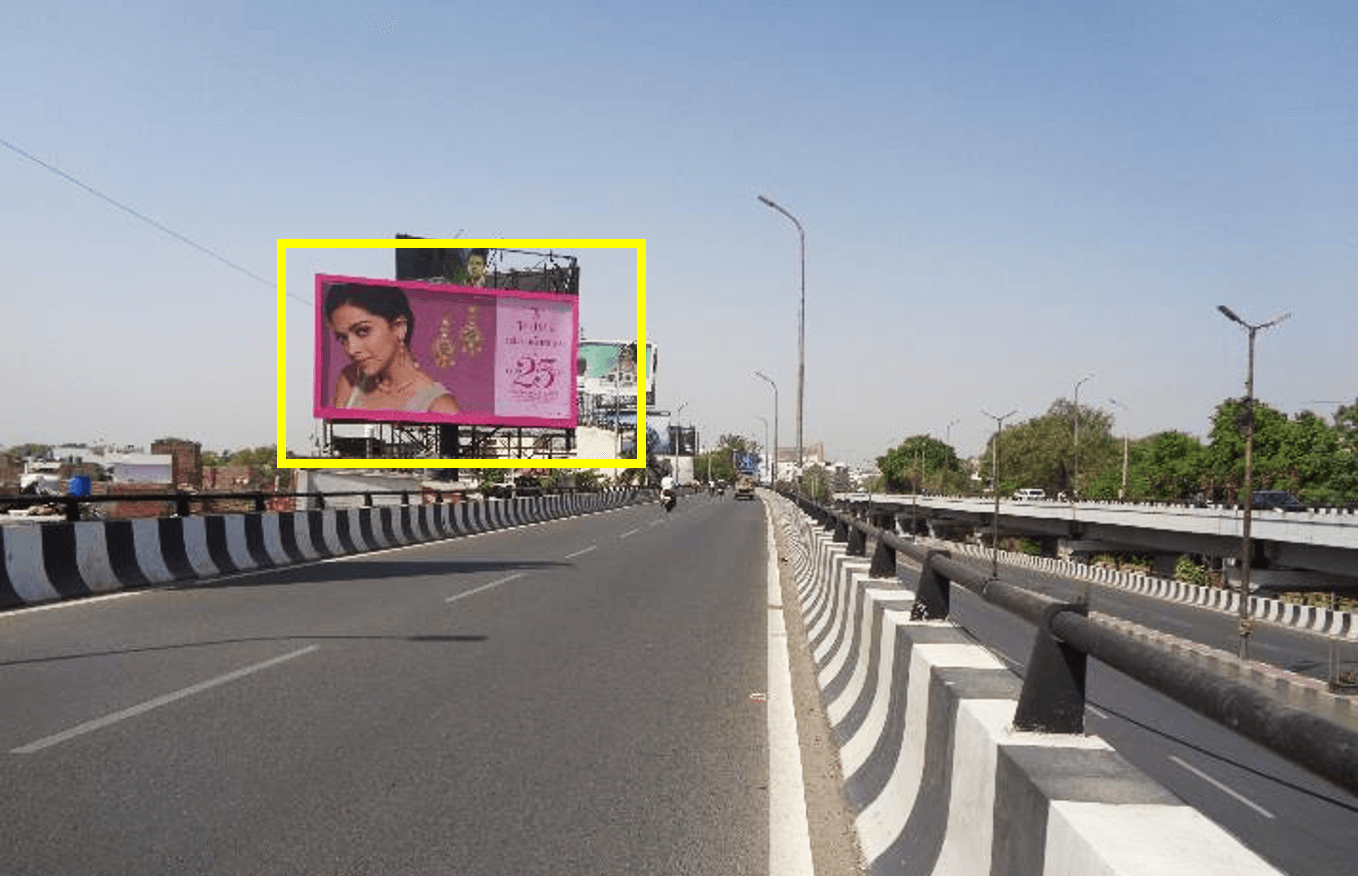 Option No.2 Hoarding at Gomti Nagar Flyover, Facing Wave Mall, Lucknow