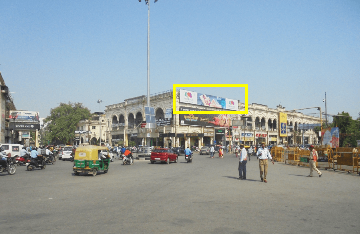 Option No.3 Hoarding Advertising at Hazratganj Xing, Lucknow
