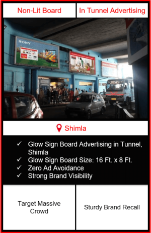 outdoor advertising in shimla, glow sign board advertising in shimla, hoarding advertising in shimla