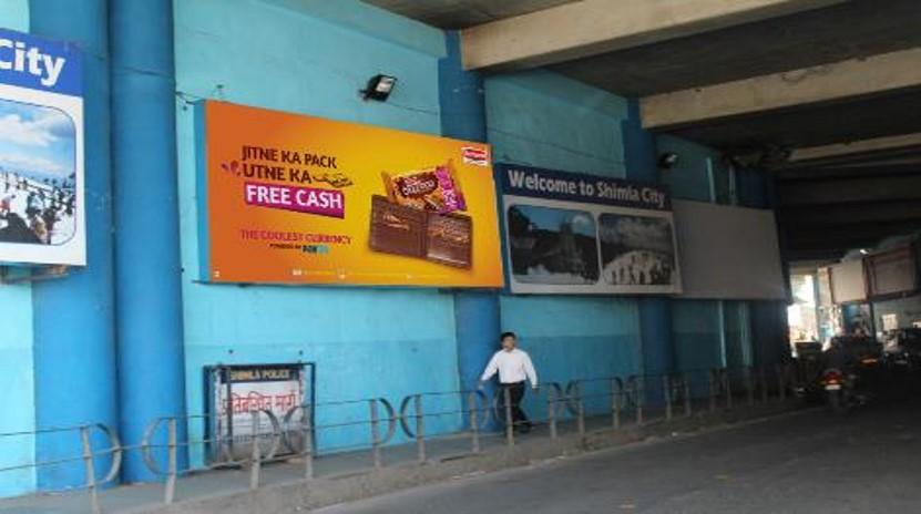 Media No.1 Glow Sign Board Advertising in Tunnel, Shimla