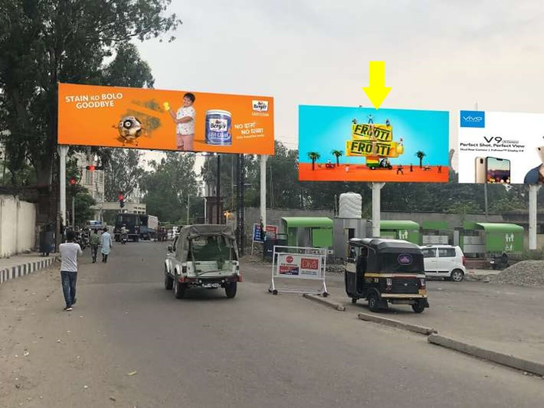 Option No.4 Unipole advertising at Railway Station, Exit Road, Jammu