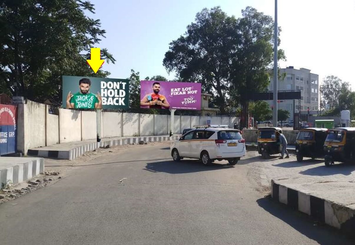 Option No.2 Unipole advertising at Railway Station, Exit Road, Jammu