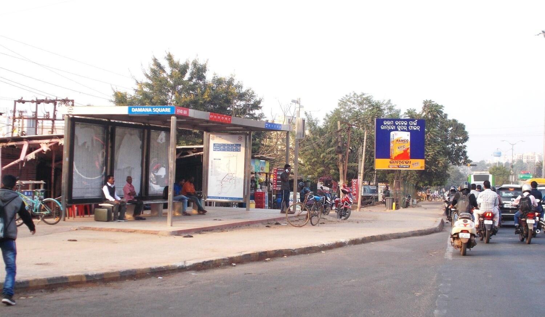 Option No.2 Bus Shelter Branding at Damana Square, Bhubaneswar