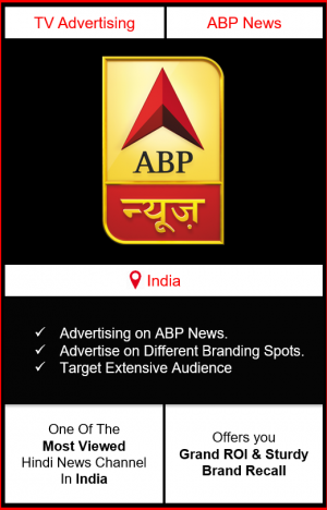 Advertising on ABP news channel, advertising on abp, advertising in abp news channel, ABP News Advertising