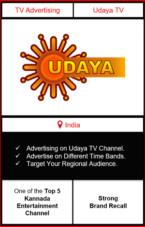Advertising on udaya tv channel, advertising on udaya tv, advertising in udaya tv, Udaya TV Advertising, Udaya TV ad