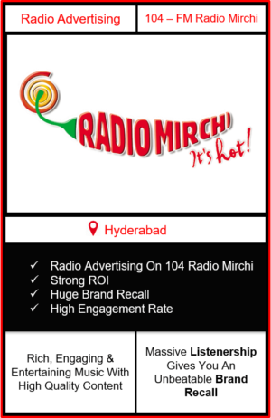 radio mirchi advertising in hyderabad, radio advertising in hyderabad, radio ad in hyderabad, advertising on radio in hyderabad