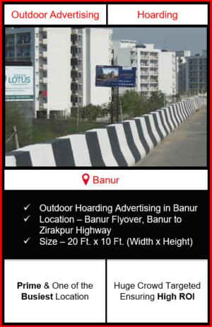 Outdoor advertising in Banur, hoarding advertising in Banur, advertising in Banur, advertising agency in Banur