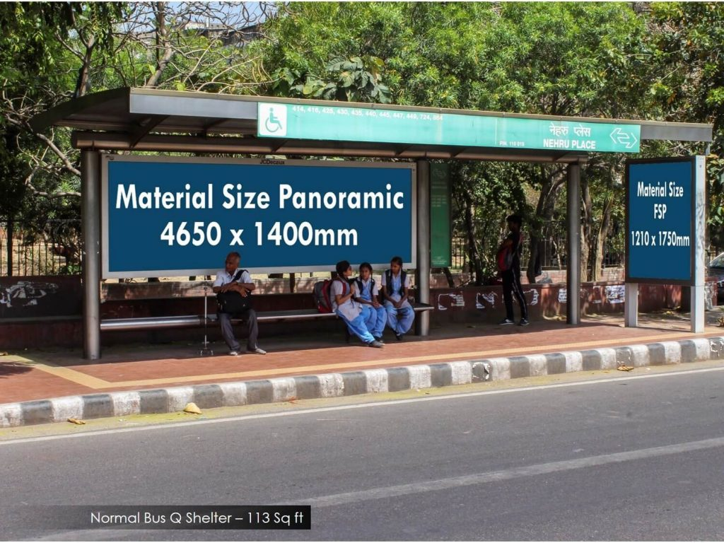 Bus queue shelter advertising in Delhi, BQS branding in Delhi, outdoor advertising in Delhi, outdoor branding in Delhi, Bus Queue Shelter Advertising In West Delhi