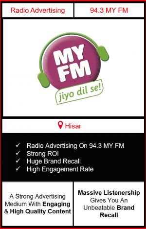 Radio Advertising in Hisar, advertising on radio in Hisar, radio ads in Hisar, advertising in Hisar, 92.7 BIG FM Advertising in Hisar