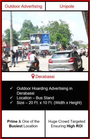 Outdoor advertising in Derabassi, hoarding advertising in Derabassi, advertising in Derabassi, advertising agency in Derabassi