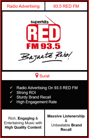 Radio Advertising in Surat, advertising on radio in Surat, radio ads in Surat, advertising in Surat, 93.5 RED FM Advertising in Surat