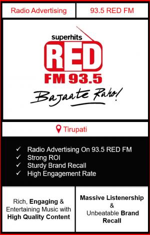 Radio Advertising in Tirupati, advertising on radio in Tirupati, radio ads in Tirupati, advertising in Tirupati, 93.5 RED FM Advertising in Tirupati