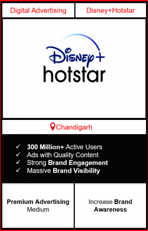 Hotstar Advertising in Chandigarh, advertising on Hotstar in Chandigarh, Hotstar ads in Chandigarh, advertising in Chandigarh, Hotstar Advertising in Chandigarh