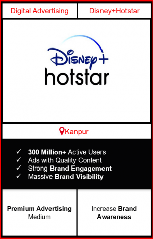 Hotstar Advertising in Kanpur, advertising on Hotstar in Kanpur, Hotstar ads in Kanpur, advertising in Kanpur, Hotstar Advertising in Kanpur