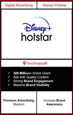 Hotstar Advertising in Tiruchirappalli, advertising on Hotstar in Tiruchirappalli, Hotstar ads in Tiruchirappalli, advertising in Tiruchirappalli, Hotstar Advertising in Tiruchirappalli