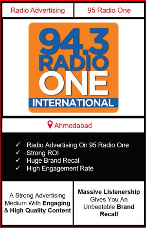 Radio Advertising in Ahmedabad, advertising on radio in Ahmedabad, radio ads in Ahmedabad, advertising in Ahmedabad, 94.3 RADIO ONE FM Advertising in Ahmedabad