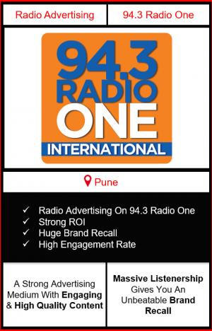 Radio Advertising in Pune, advertising on radio in Pune, radio ads in Pune, advertising in Pune, 94.3 RADIO ONE FM Advertising in Pune