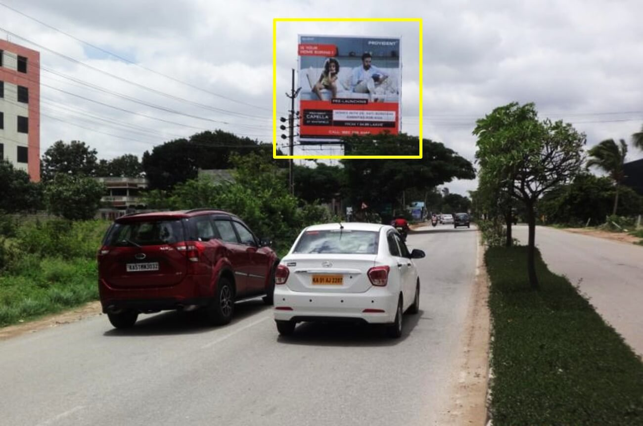 Option No.2 Outdoor Hoarding Advertising at Kadugodi Opp. Vibgyore School Towards ITPL EPIP Zone, Varthur