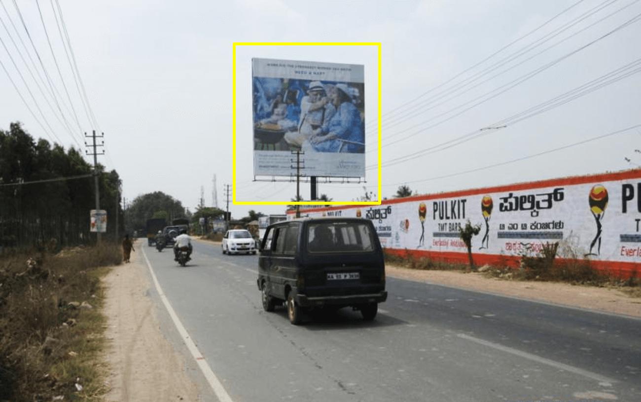 Option No.3 Outdoor Hoarding Advertising at Budigere Cross on Mandur, International Airport Road, Budigere Cross City RHS